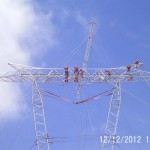 Montaje de torres arriostradas tipo VSL y CSL para 500kV