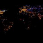 Infografía histórica del consumo energético mundial en iluminación: 1993-2003