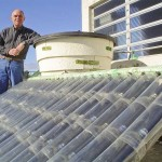 Calentador solar con materiales reciclables