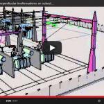 Vista en 3D de una subestación 230/115 kV