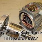 ¿Porqué la potencia nominal del motor es kW en lugar de kVA?