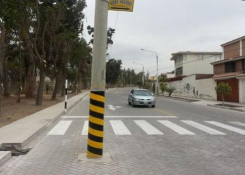 postes en calle