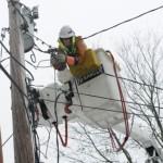 Fotos: Recuperación de la energía eléctrica después del paso del Huracán Sandy