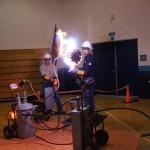 Demostración del peligro de las líneas eléctricas