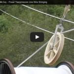 Video: Tendido de conductores de una línea de transmisión usando helicóptero