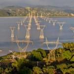 Líneas de transmisión en la Laguna Cuyutlán (México)