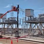 En plena construcción de la subestación San Camilo 500/220 kV (Perú - Arequipa)