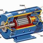 ¿Son las partes de un motor eléctrico AC o DC?