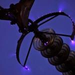 Efecto corona en los anillos anti-corona de una línea de 500kV