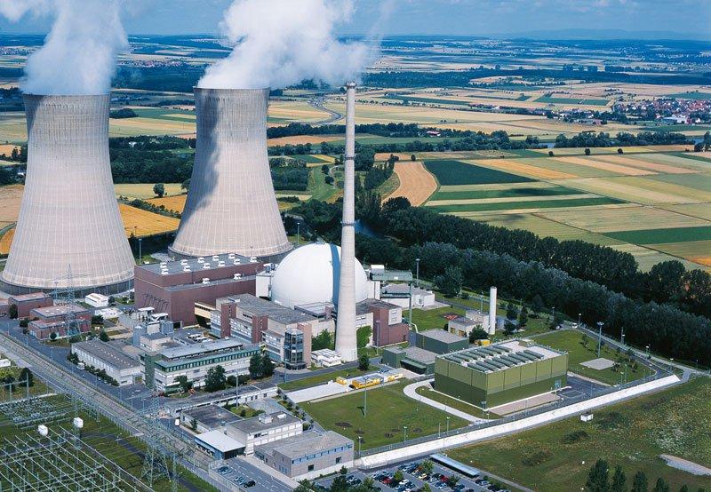 Central nuclear alemana de Gafenrheinfeld.