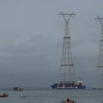 Línea de transmisión de 400kV sobre el lago Maracaibo - Venezuela