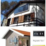 Tecnología para calentar el interior de una vivienda solo con energía solar