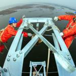 China: Trabajos de electrificación rural en 110kV