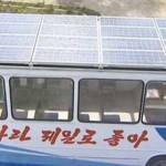 Corea del Norte muestra su primer autobús de energía solar
