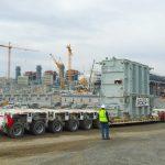Transporte de un transformador de potencia