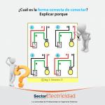 Pregunta del día: ¿Cuál es la forma correcta de conectar? Explicar porque