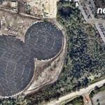 ¿No les parece familiar la figura de este parque fotovoltaico?