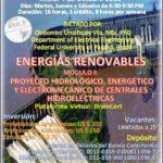Curso Virtual/Online: Proyecto Hidrológico, Energético y Electromecánico de Centrales Hidroeléctrica...