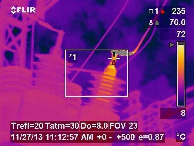 El punto Caliente en el Lado de Alta de Transformador de Corriente-4