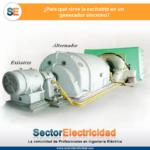 ¿Para qué sirve la excitatriz en un generador síncrono?