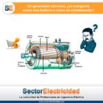 Pregunta del día: Un generador síncrono, ¿se comporta como una bobina o como un condensador?