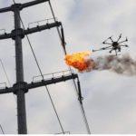 Video: Dron lanzallamas limpia líneas eléctricas