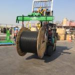 Yugo adaptable para la manipulación de carretes y transformadores