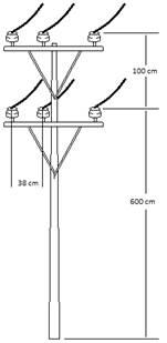 Doble circuito con cable desnudo