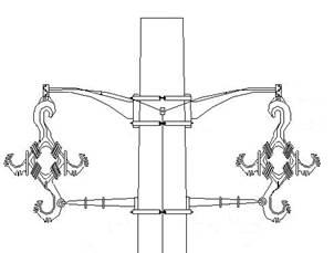 Figura 5 Estructura de doble circuito con cable protegido