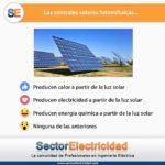 Pregunta del día: Las centrales solares fotovoltaicas...