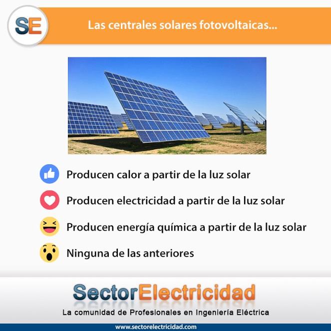 Las centrales solares fotovoltaicas