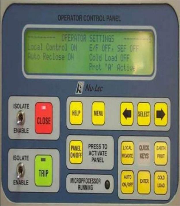 control de reconector nulec
