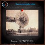 El primer generador eólico