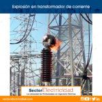 Explosión en transformador de corriente